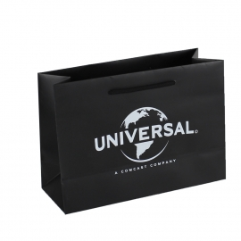 Overprinted Black Matt Paper Bags with rope handles - Ref. Universal