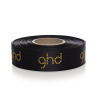 Gold Foil Printed Black Satin Ribbon