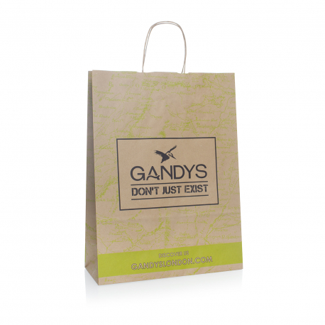 Recycled Paper Bags With Twisted Handles