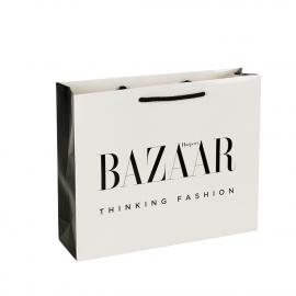 Luxury Paper Gloss Laminate Rope Handle Bags ref. Harpers Bazaar