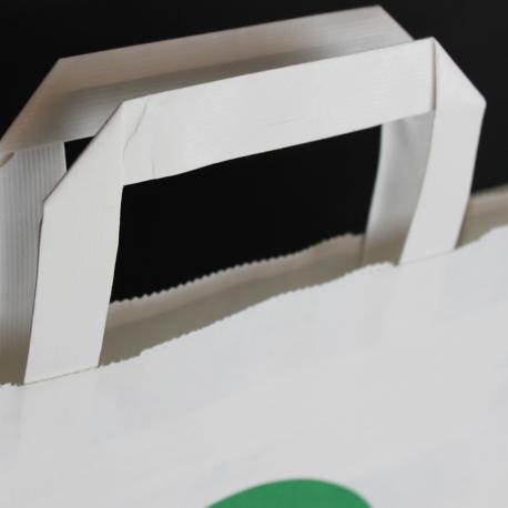 White Flat Handle Kraft Paper Bags ref. Inter Spar