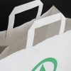 White Flat Handle Kraft Paper Bags ref. Inter Spar