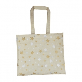 Printed Two Colour Metallic Pantone Star Cotton Bags Ref. Next