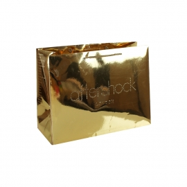 Luxury Gold Laminate Rope Handle Paper Bags ref. Aftershock London