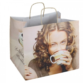Luxury Twisted Handle Paper Bags with 250mm Gusset