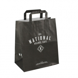 Printed Flat Handle Kraft Paper Bags Ref. The National