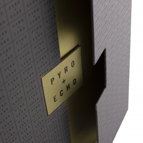 Luxury Magnetic Seal Boxes with Metalised Paper Ref Pyro