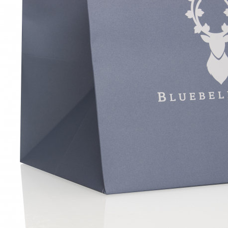Printed Luxury Ribbon Handle Paper Bags Ref Bluebell and Ivy