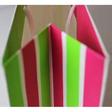 Unvarnished Recycled White Paper Bags With Rope Handle - Ref. Calini Kids