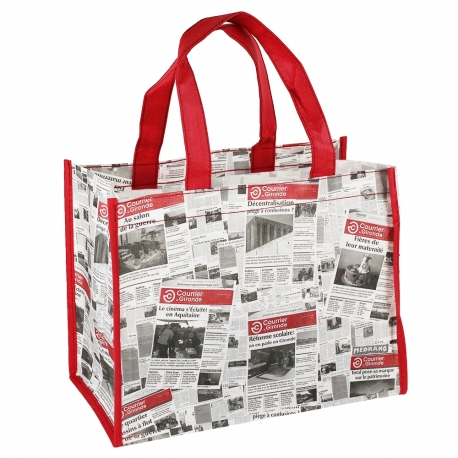 Printed Non-Woven Short Handle Bags for life - Ref. Courier Gironde