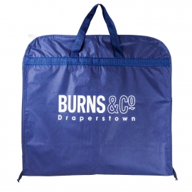 Printed PEVA/Non-Woven Mix Suit Carrier Ref. Burns & Co