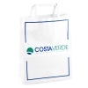 Printed Two Colour White Kraft Flat Handle Paper Bag Ref. Costa Verde