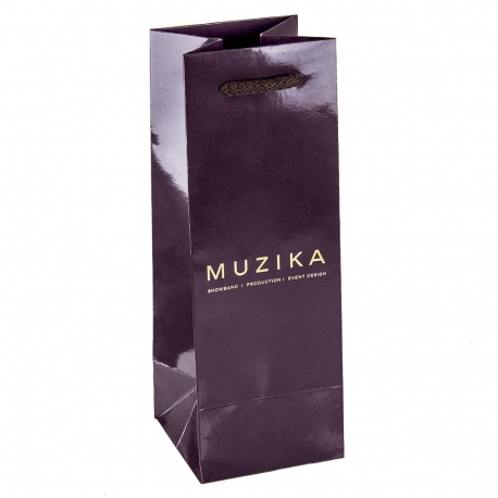 Luxury Full Colour Paper Gloss Laminated Debossed Hot Foil Bag Ref. Muzika