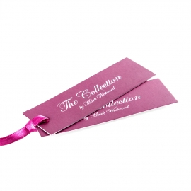 Printed Clothing Tag with Luxury Ribbon Insert Ref Mark Westwood