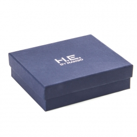 Printed Detachable Lid Silver Foil Wallet Boxes Ref. Mango