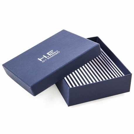 Printed Detachable Lid Silver Foil Wallet Boxes Ref. Mango