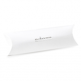 Printed Luxury Pillow Box with Silver Foil Logo Ref. Adorn