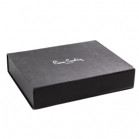 Luxury Magnetic Seal Clothing Box with Silver Foil Ref. Pierre Cardin