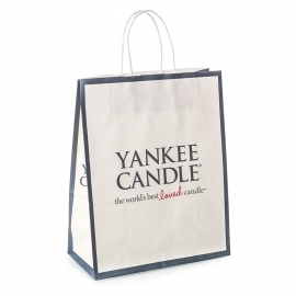 Full Colour Kraft Twisted Handle Paper Bag Ref. Yankee Candle