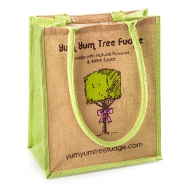 Printed Jute Bag Ref. Yum Yum Tree Fudge