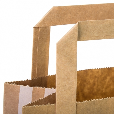 Printed Coated Kraft Paper Flat Handle Sandwich Bag Ref. Genius Gluten Free