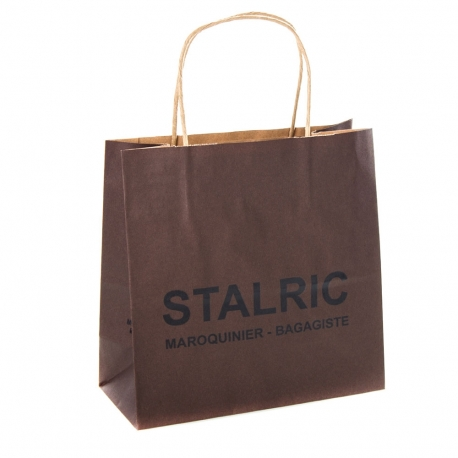 3da5497f1f Printed Recycled Kraft Paper Carrier Bags - Precious Packaging
