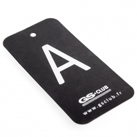 Printed Luxury Clothing Tag with Silver Pantone Ref. GS Club