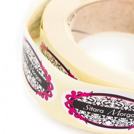 Round Shaped Custom Printed Stickers - Ref. Sitara Morgan