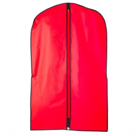 Plain Red and Black Garment Cover
