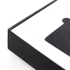Luxury Uncoated Black Card Box with White Grossgrain Ribbon Ref. Icandy