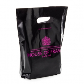 Pantone Matched Die Cut Plastic Bag Ref. House of Fraser