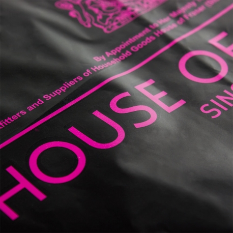 Pantone Matched Dye Cut Plastic Bag Ref. House of Fraser
