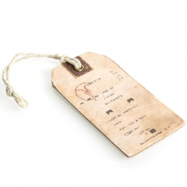 Two Toned Rigid Card Clothing Tag Ref. Allsaints