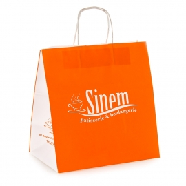 White Kraft Twisted Handle Bag Ref. Sinem
