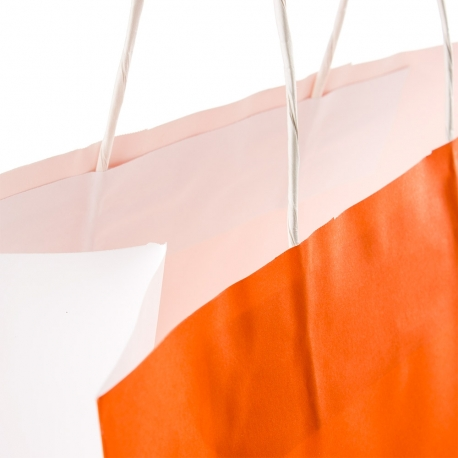 White Kraft Twisted Handle Bag Ref. Sinem