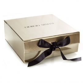 Flat Packed Gloss Laminated Ribbon Sealed Box Ref. Giorgio Armani