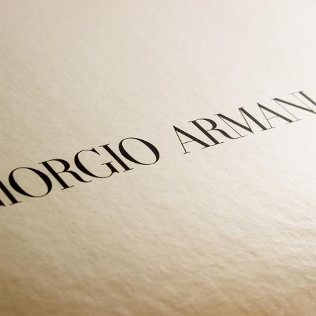 Flat Packed Gloss Laminated Ribbon Sealed Box Ref. Giorgio Armani