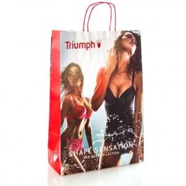 White Kraft Twisted Handle Bag Ref. Triumph