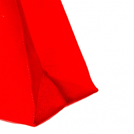 Red Non-Woven Flat Handle Carrier Bag - Ref. Tassengek