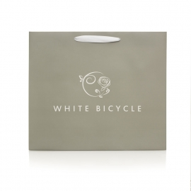 White  Ribbon Handle Bag – Ref. White Bicycle