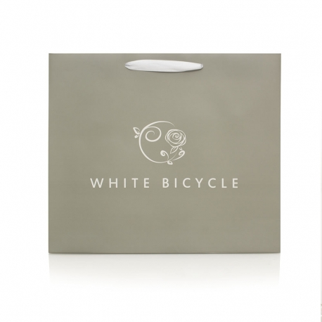 White Satin Closed Handle Bag – Ref. White Bicycle