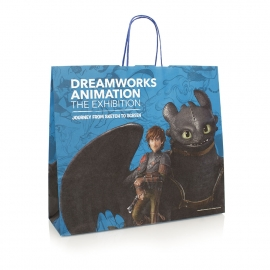 Twisted Handle Full Colour Carrier Bag – Ref. DreamWorks Animation – How To Train Your Dragon