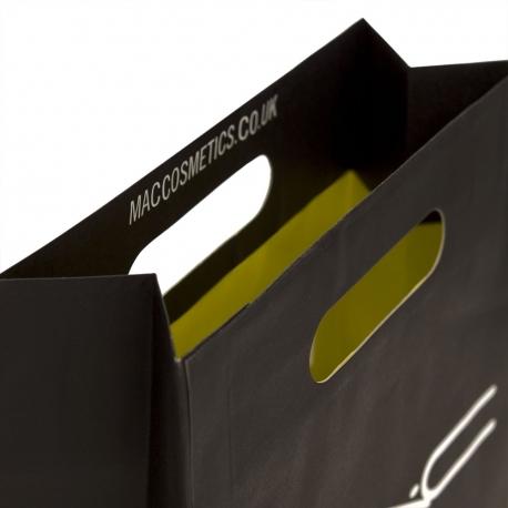 Black Die Cut Handle Bag – Ref. MAC Cosmetics