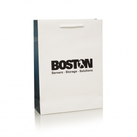 Full Colour Printed Gusset Carrier Bag Ref Boston