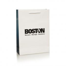 Full Colour Printed Gusset Carrier Bag Ref Boston