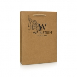 Printed Brown Kraft Paper Carrier Bag - Ref. Weinstein Vinothek