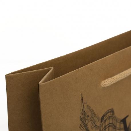 Printed Brown Kraft Paper Carrier Bag - Ref. Weinstein Vinothek