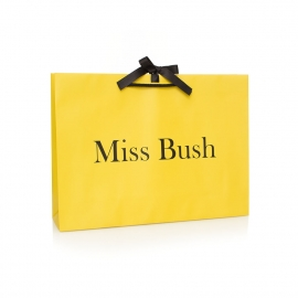 Matt Laminated Paper Carrier Bag Ref Miss Bush