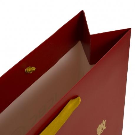 Satin Handle Matt Laminated Gold Foil Bag Ref. ICBC