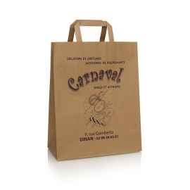 Uncoated Brown Kraft Bag Ref. Carnaval